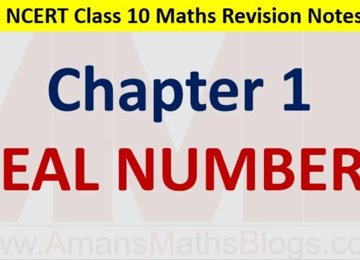 Real Numbers CBSE NCERT Notes Class 10 Maths Chapter 1 PDF Download Amans Maths Blogs