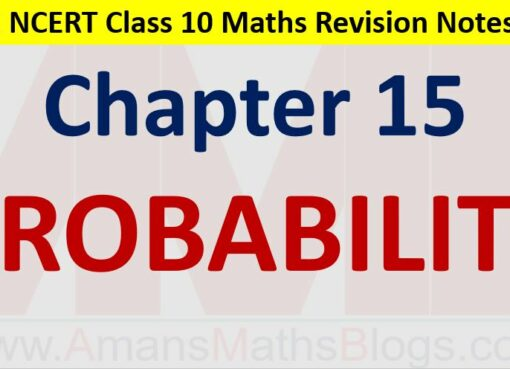 Probability CBSE NCERT Notes Class 10 Maths Chapter 15 PDF