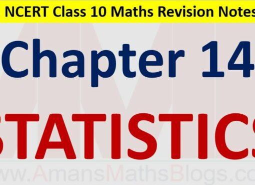 Statistics Mean Median Mode CBSE Notes Class 10 Maths Chapter 14 PDF