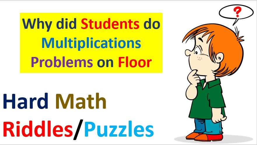 Hard Math Riddles Puzzles with Answers PDF Download