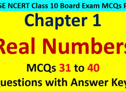 Extra MCQ Questions for Class 10 Maths Real Numbers