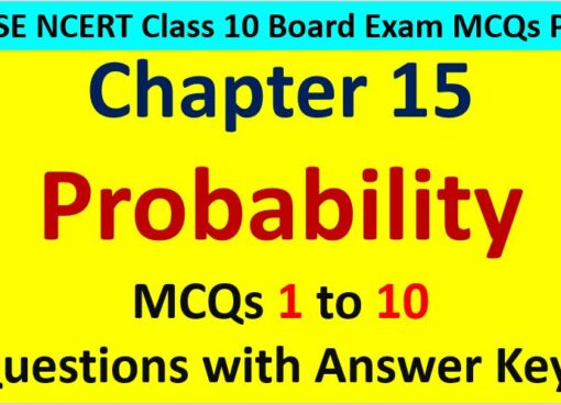 MCQ Questions for Class 10 Maths Chapter 15 Probability 1 to 10 with Answer Keys PDF AMBiPi