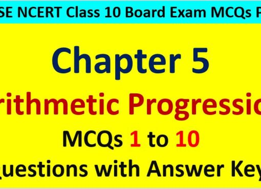 MCQ Questions for Class 10 Maths Chapter 5 Arithmetic Progression 1 to 10 with Answer Keys PDF AMBiPi