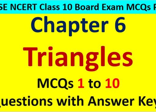MCQ Questions for Class 10 Maths Chapter 6 Triangles 1 to 10 with Answer Keys PDF AMBiPi