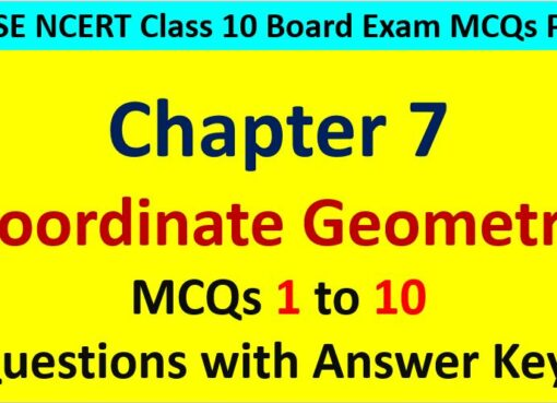 MCQ Questions for Class 10 Maths Chapter 7 Coordinate Geometry 1 to 10 with Answer Keys PDF AMBiPi