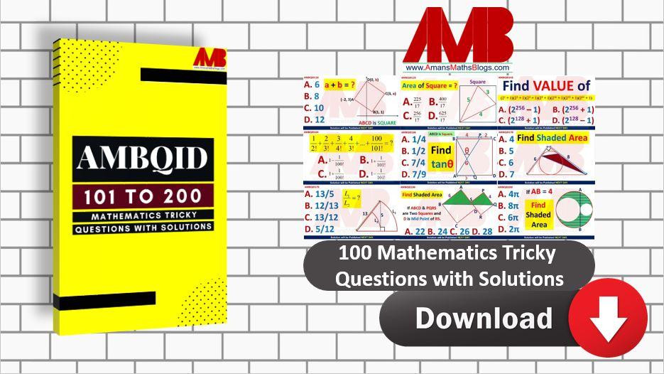 SAT ACT Common Core Math Algebra Trigonometry Geometry Questions with Solutions AMBQID PDF