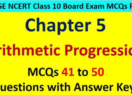 Arithmetic Progression CBSE Class 10 MCQ Questions with Answers Keys