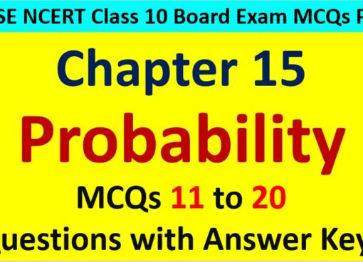 Probability Class 10 Maths MCQ Questions with Answer Keys
