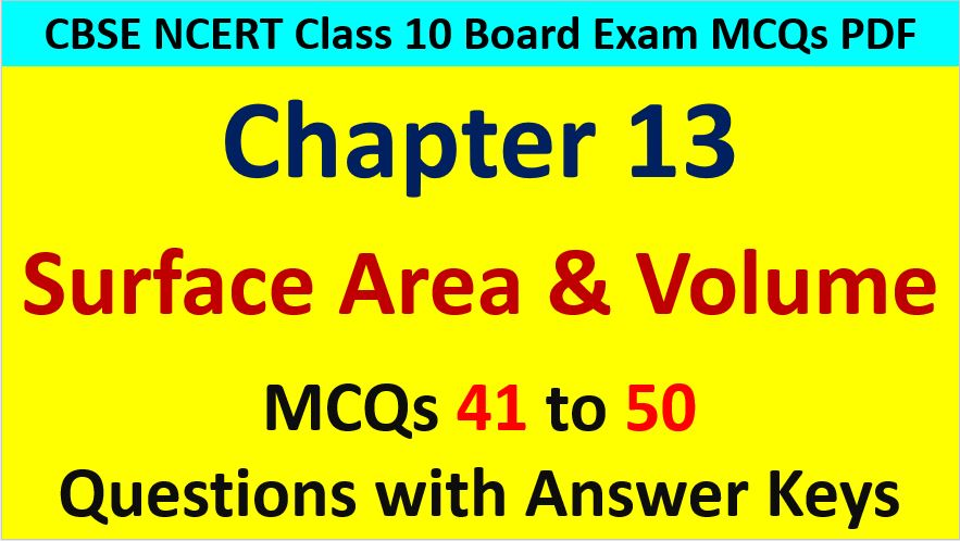 Surface-Area-and-Volume-CBSE-Class-10-MCQ-Questions-with-Answers-Keys
