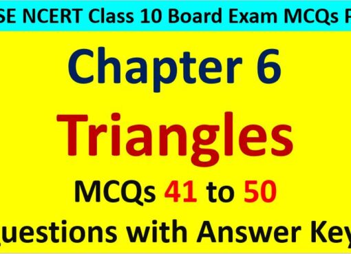 Triangles CBSE Class 10 MCQ Questions with Answers Keys